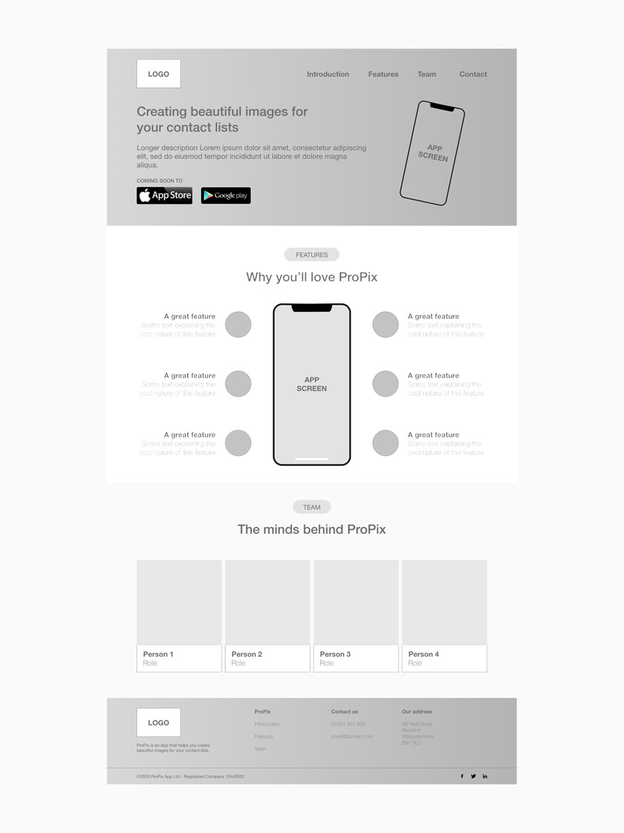 wireframes ux